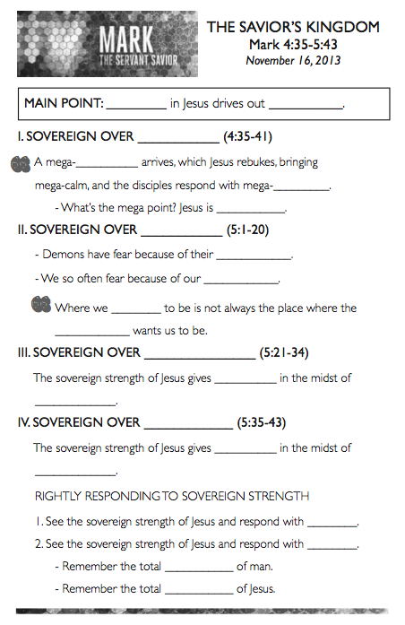 Sermon Notes Template. topical sermon outline format. hands on ...